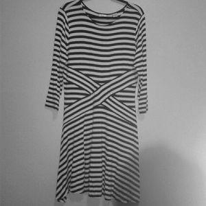 EUC Black/White stripped ECI dress sz. XL